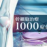 幹細胞治療が1000症例を突破